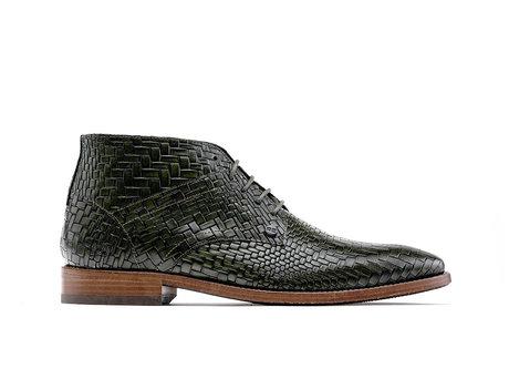 Rehab Barry Brick | Donkergroene nette schoenen