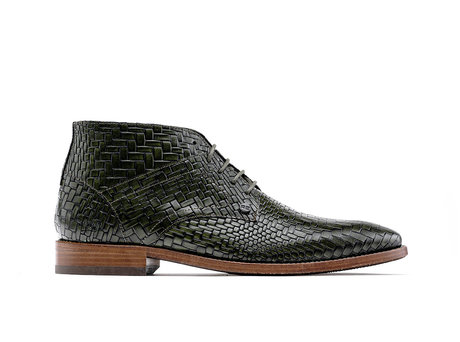 Rehab Dark Green Business Shoes Barry Brick