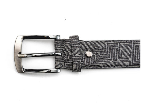 REHAB Belt Labyrinth Black-Dark Grey