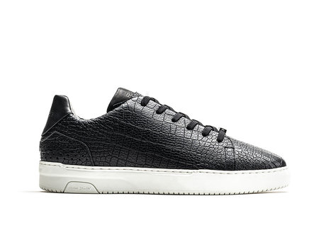 Rehab Schwarze Sneakers Teagan Croco