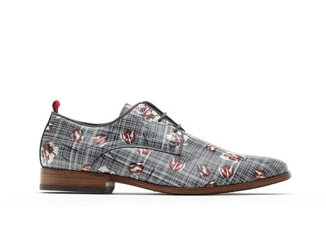 Fred Wild Tulips   Grijs-rode nette schoenen