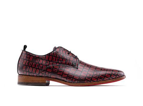 Fred Red Light   Rood-blauwe nette schoenen