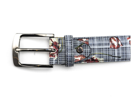 REHAB BELT FRED WILD TULIPS GREY-RED