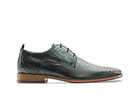 Green Black Business Shoes Greg Snake Met