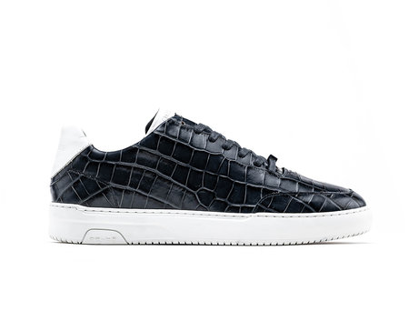 Rehab Zwarte Sneakers Tygo Croco