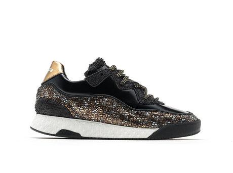 Alexa Fantasy | Zwart-gouden sneakers
