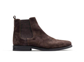 Harley Sue | Lage donkerbruine chelsea boots
