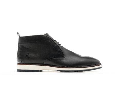 Potsavivo Lthr | Dark Grey Business Shoes