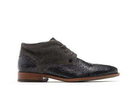 Salvador Weave | Hoge donkergrijze nette schoenen
