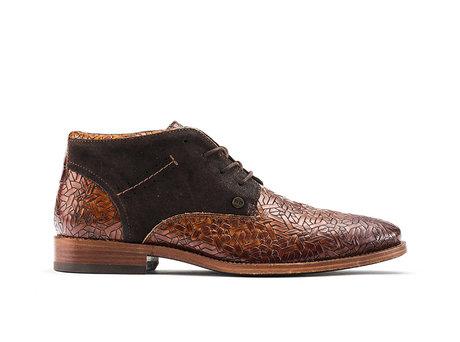Salvador Weave | Hoge bruine nette schoenen