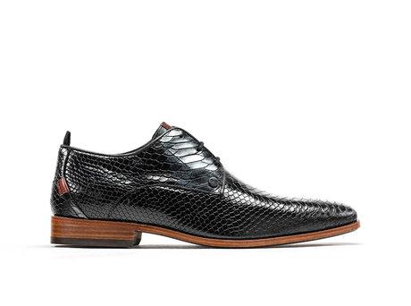Greg Snk Met | Donkergrijze-zwarte nette schoenen