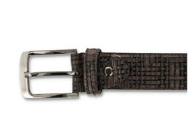 REHAB BELT WEAVE PTS 420 DARK BROWN