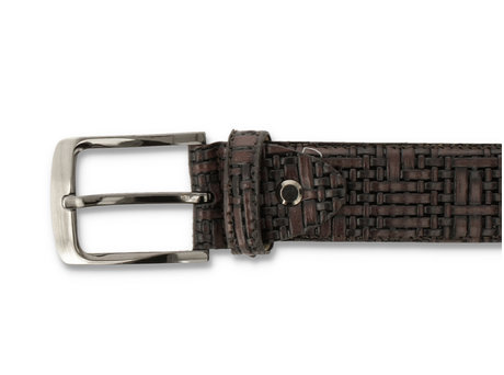 Belt Weave Pts 420 Dark Brown