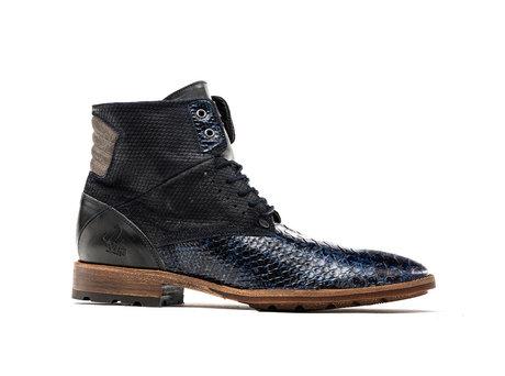 Alesandro Snake Fantasy | Hoge donkerblauwe boots