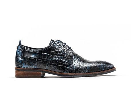 Dunkel Blaue Business Schuhe Falco Crc Met