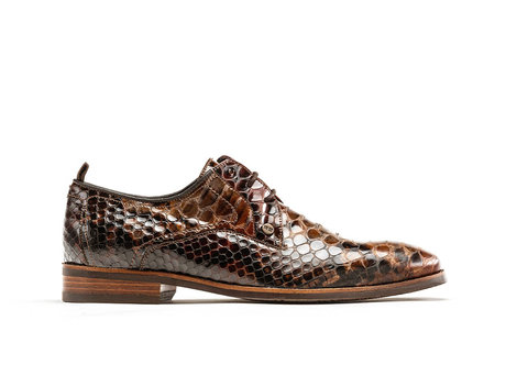 Falco Snake Vnz | Donkerbruine nette schoenen