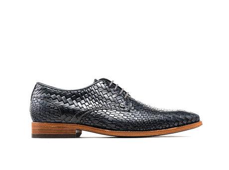 Brad Brick | Donkergrijze nette schoenen