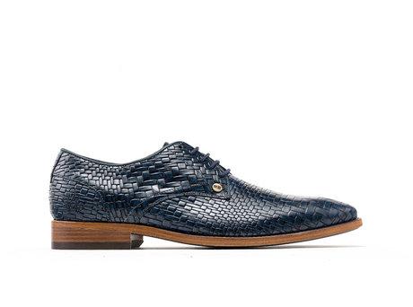 Dark Blue Business Shoes Brad Brick