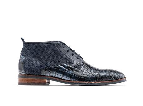 Fredo Crc Met | Hoge donkerblauwe nette schoenen