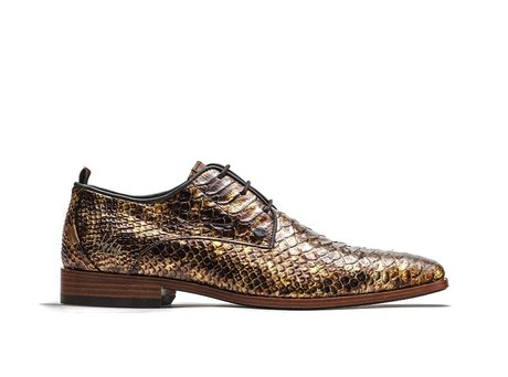 Rehab Brown Business Shoes Greg Snake Met 121