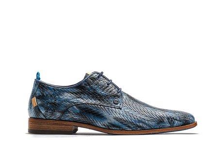 Blaue Business Schuhe Leaf