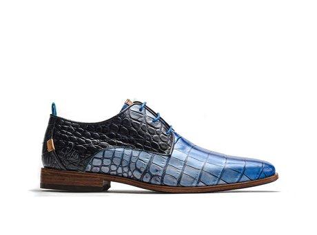 Rehab Blaue Business Schuhe Greg Gradient Crc