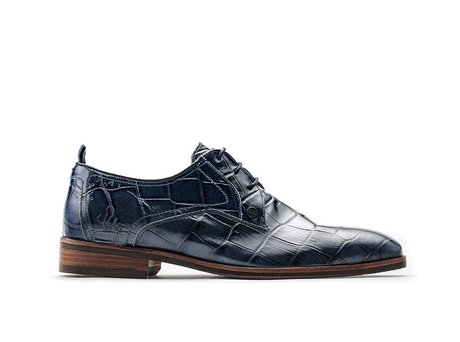 Dunkel Blaue Business Schuhe Falco Crc Shiny