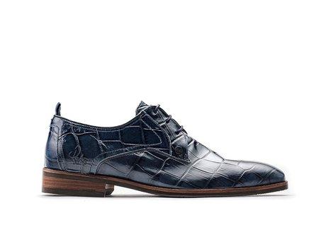 Rehab Dunkel Blaue Business Schuhe Falco Crc Shiny