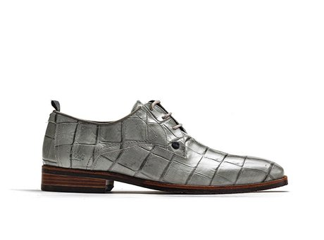 Rehab Grey Business Shoes Falco Crc Shiny