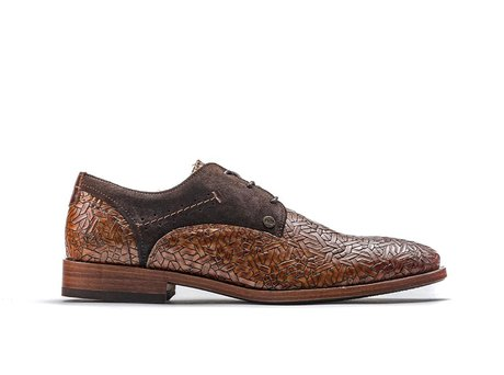 Brown Business Shoes Solo Weave