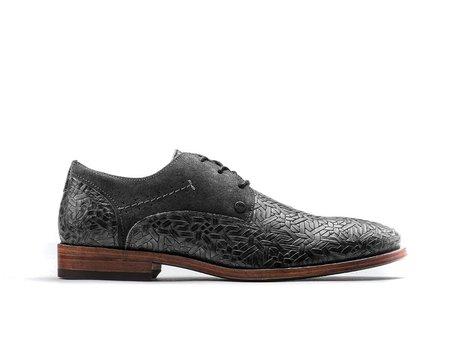 Dunkel Graue Business Schuhe Solo Weave