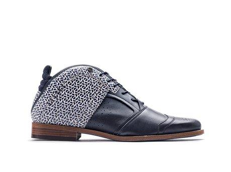 Kurt II Pyramid   Blue Business Shoes
