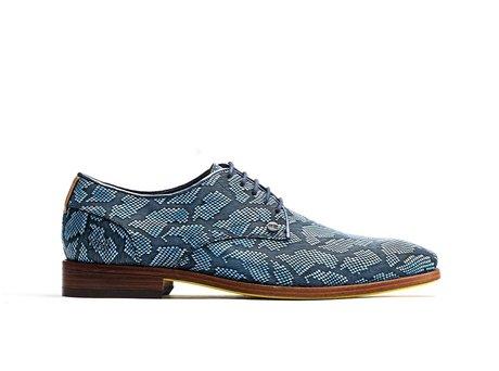 Rehab Blaue Business Schuhe Brad Cloud