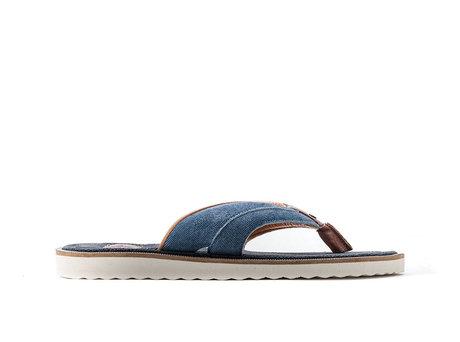 Raoul Stripes | Blauwe slippers