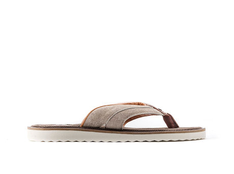 Raoul Stripes | Bruine slippers