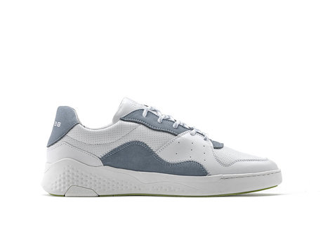 Graue  Weiße Sneakers Lthr Nub