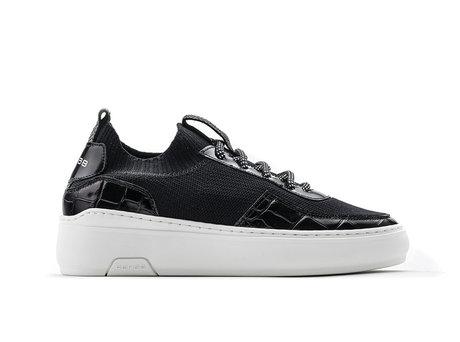 Tess Knit Crc | Zwarte sneakers