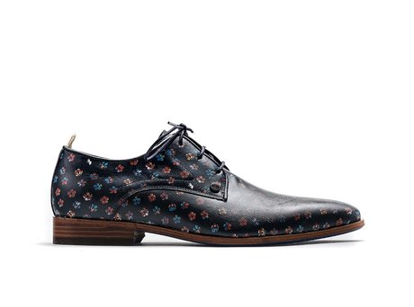 Rehab Black Business Shoes Fred Clover Multi