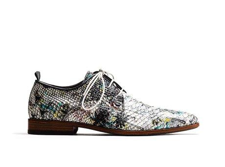Fred Snk Festival Multi   Witte nette schoenen