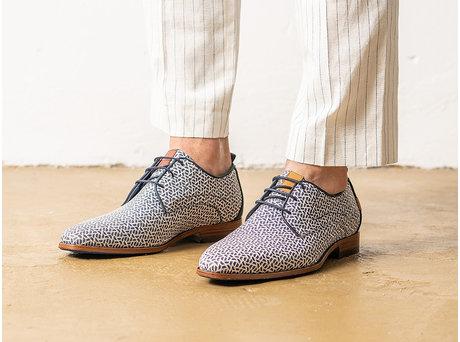 Blaue Business Schuhe Greg Pyramid