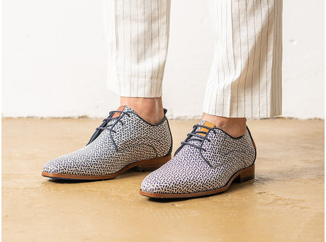 Blue Business Shoes Greg Pyramid