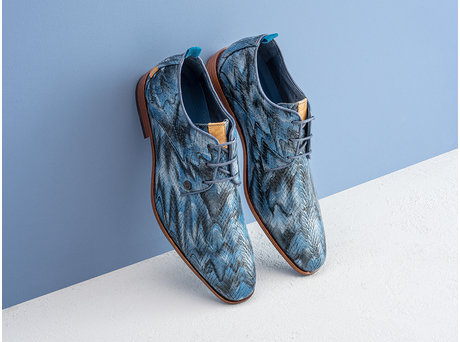 Rehab Blue Business Shoes Greg  Leaf