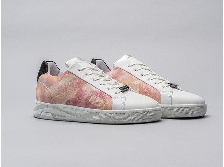 Ziya Tie Dye | Wit-roze sneakers