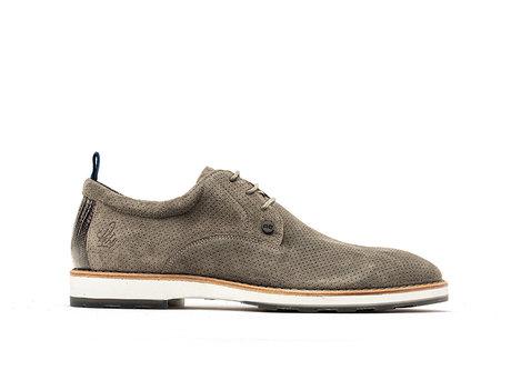 Light Grey Business Shoes Pozato Suede