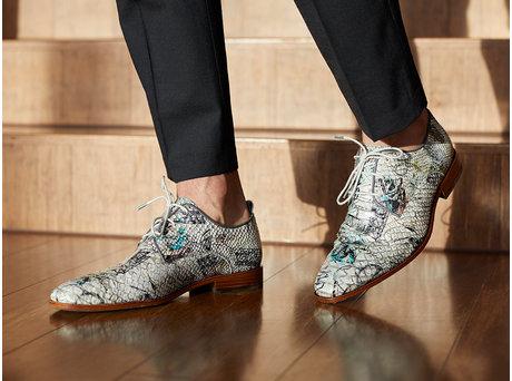 Rehab White Business Shoes Fred Snake Festival Multi