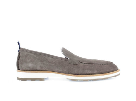 Graue Business Schuhe Paolos Suede