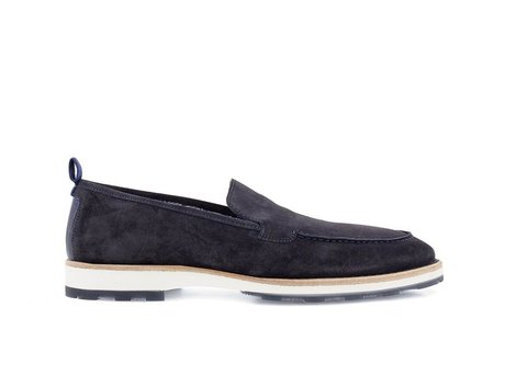 Blue Business Shoes Paolos Suede