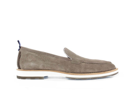 Light Grey Business Shoes Paolos Suede