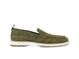 Rehab Green Business Shoes Paolos Suede