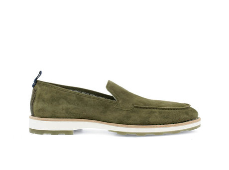 Grüne Business Schuhe Paolos Suede